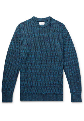 Richard James - Honeycomb-knit Mélange Wool Sweater - Blue