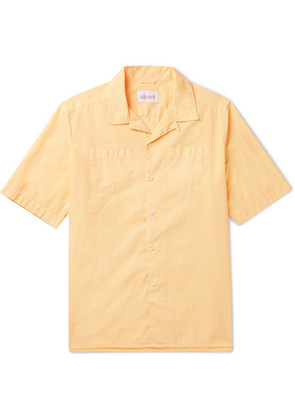 Albam - Harlow Camp-collar Cotton Shirt - Yellow