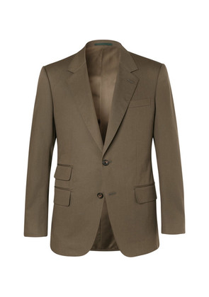 Kingsman - Eggsy's Olive Stretch-cotton Twill Suit Jacket - Army green