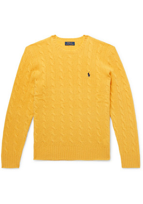 Polo Ralph Lauren - Cable-knit Merino Wool And Cashmere-blend Sweater - Yellow