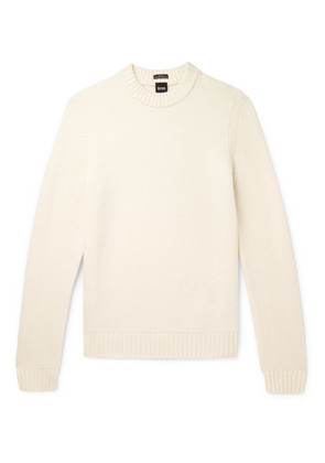 Hugo Boss - Slim-fit Virgin Wool Sweater - Cream