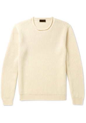 Altea - Ribbed Virgin Wool Sweater - Cream