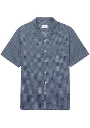 Dunhill - Camp-collar Printed Cotton Shirt - Blue