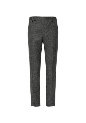 Saint Laurent - Slim-fit Basketweave Wool Suit Trousers - Gray