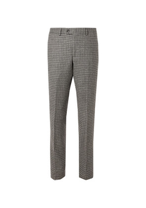 MP Massimo Piombo - Grey Neruda Slim-fit Houndstooth Virgin Wool Suit Trousers - Gray