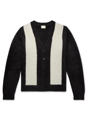 SIMON MILLER - Striped Cashmere Cardigan - Black