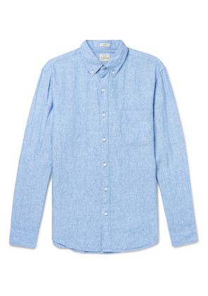 J.Crew - Slim-fit Button-down Collar Linen Shirt - Light blue