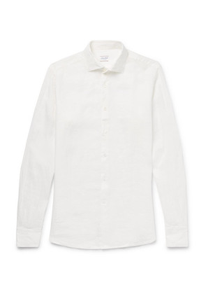 Incotex - Slim-fit Linen Shirt - White