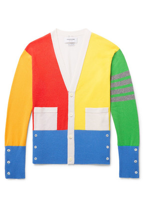 Thom Browne - Fun Mix Slim-fit Colour-block Striped Cashmere Cardigan - Multi