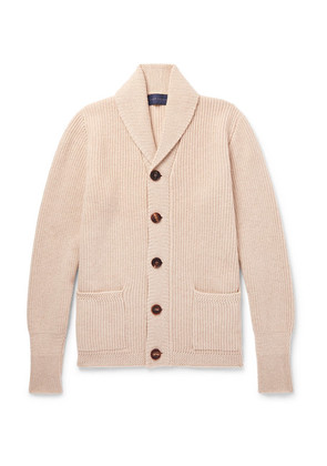 Thom Sweeney - Slim-fit Shawl-collar Cashmere Cardigan - Beige