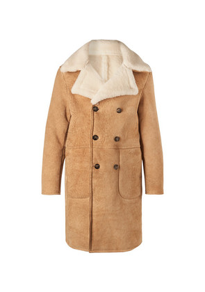 Officine Generale - Arnie Double-breasted Shearling Coat - Camel
