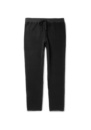 James Perse - Tapered Cashmere Sweatpants - Black