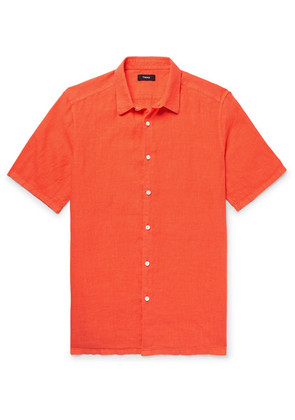 Theory - Slub Linen Shirt - Orange
