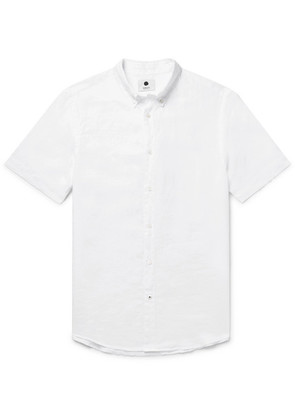 NN07 - Derek Button-down Collar Linen Shirt - White