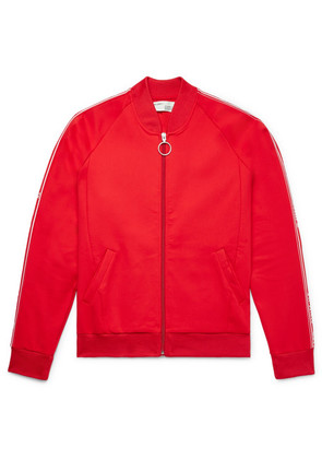 Off-White - Slim-fit Webbing-trimmed Tech-jersey Jacket - Red