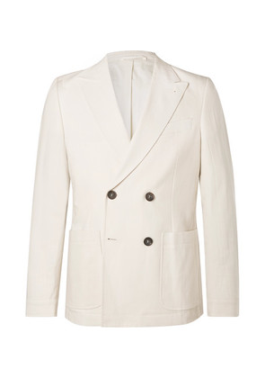 Oliver Spencer - Cream Double-breasted Cotton Suit Jacket - Cream