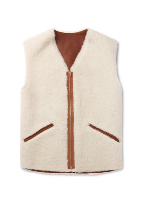 President's - Slim-fit Shearling Gilet - Neutral