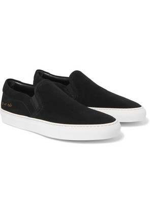 Common Projects - Suede Slip-on Sneakers - Black