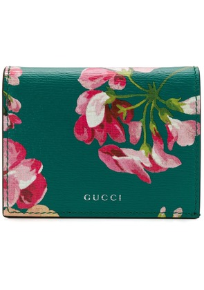 Gucci Bloom print card case - Green