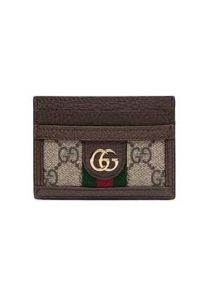 Gucci ebony Ophidia leather cardholder - Brown