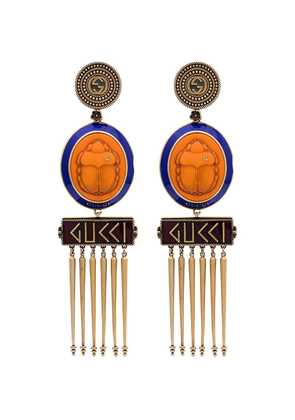 Gucci Beetle Cameo Earrings - Orange
