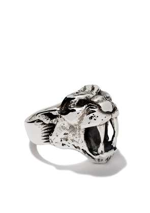The Great Frog sabre tooth ring - Silver