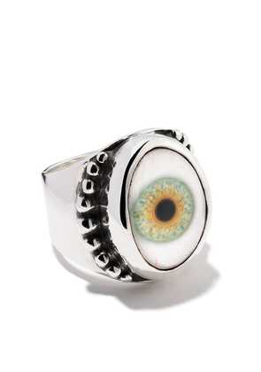 The Great Frog beaded eye ring - Silver