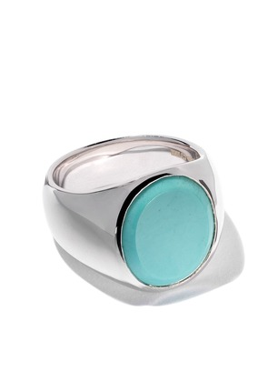 Tom Wood oval turquoise ring - Silver