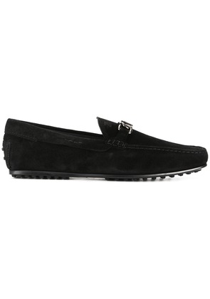 Tod's plaque Gommino loafers - Black