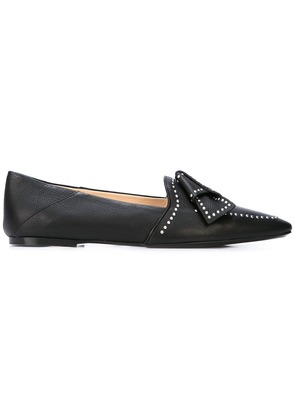 Tod's studded bow loafers - Black