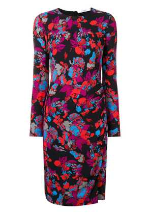 Givenchy graphic floral print dress - Black