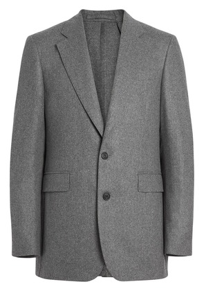 Burberry Classic Fit Wool Cashmere Tailored Jacket - Grey