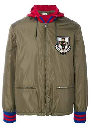 Gucci hooded bomber jacket - Green