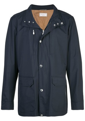 Brunello Cucinelli multi-pocket jacket - Blue