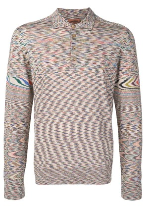 Missoni knitted striped polo shirt - Neutrals