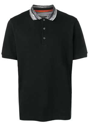Missoni striped collar polo shirt - Black