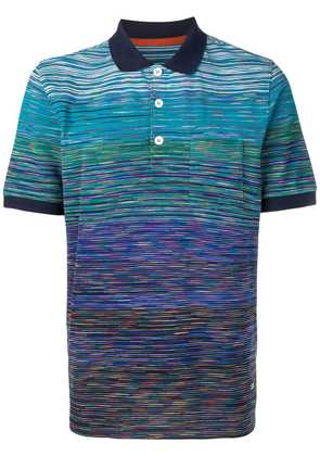 Missoni striped polo shirt - Blue