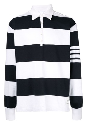 Thom Browne oversized rugby polo shirt - White