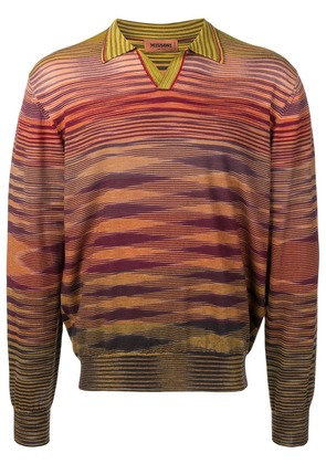 Missoni knitted patterned polo shirt - Brown