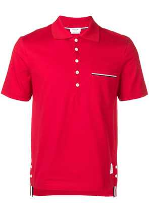 Thom Browne chest pocket polo shirt - Red