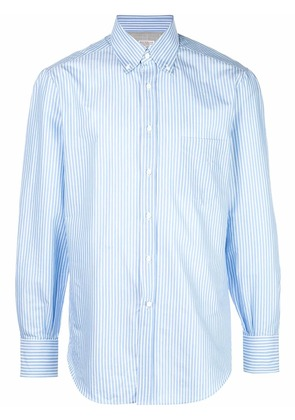 Brunello Cucinelli striped button down shirt - Blue