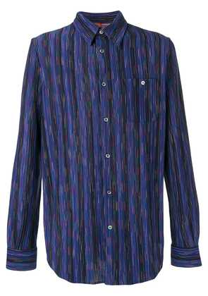 Missoni vertical stripe shirt - Blue