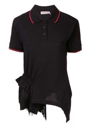 Preen Line asymmetric polo shirt - Black