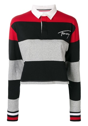 Tommy Jeans striped polo shirt - Black