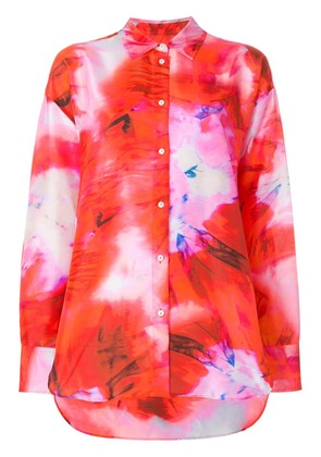MSGM abstract print shirt - Red