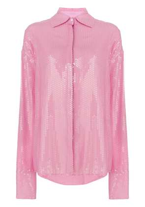 MSGM oversized sequinned shirt - Pink