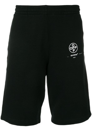 Off-White contrast logo track shorts - Black