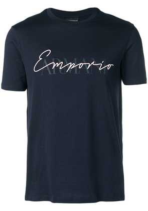 Emporio Armani logo fitted T-shirt - Blue