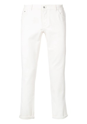Brunello Cucinelli cropped jeans - White