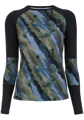Track & Field Surf printed top - Blue
